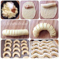 Elmali kurabiye yapim asamalari