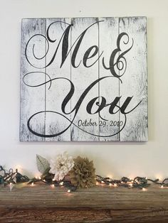 This is a wood pallet sign that measures either 16 x 16 or 24 x 24. The background is painted White. Wording is Black. I will handpaint, sand #rusticchicweddings