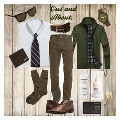 """""""Out and About."""" by classic-erynn on Polyvore featuring Bugatchi, Frye, Morphic, Salvatore Ferragamo, Brooks Brothers, To Boot New York, Cole Haan, men's fashion, menswear and tobiasmenzies"""