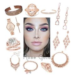 """""""Rose Gold Jewelry Box"""" by girlie87 ❤ liked on Polyvore featuring Michael Kors, Ippolita, Anne Sisteron, Effy Jewelry, Kendra Scott, Anita Ko, Ellen Conde and Buckley"""