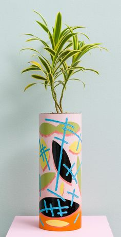 Pink Tube Pot by Ben Sanders
