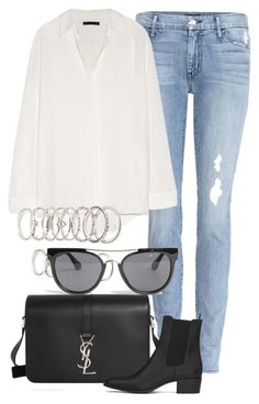 """Untitled #2096"" by rosyfilm ❤ liked on Polyvore featuring Koral, The Row, Yves Saint Laurent, Forever 21 and Quay"