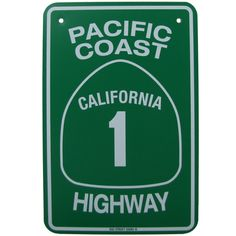 Route 1- PCH Road Sign