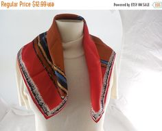 ON SALE Vintage Vera Neumann Abstract Red & by Dockb30Crafts