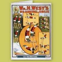 KRW Vintage Circus Poster Card cards by KRWOldWorld