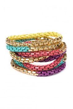 Type 3 Golden Rainbow Bracelet Set