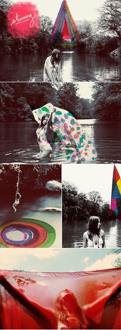 Alexandra Valenti photographs... I love the one of the woman swinging into the rainbow whirlpool