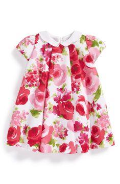 Floral Print Cap Sleeve Dress (Baby Girls)