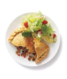 Turkey Empanadas With Salad.