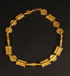 Africa | Necklace from the Ashanti people of Ghana |  Metal covered in gold leaf | 300€ ~ sold
