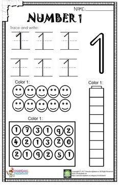 Number 1 Worksheet For Kids 21 Number 1 Worksheets Number 1 Worksheets - There are lots of reasoned explanations why you . Homeschool Preschool Curriculum, Preschool Writing, Numbers Preschool, Learning Numbers, Preschool Learning, Teaching, Number Worksheets Kindergarten, Worksheets For Kids, First Day Of School Activities
