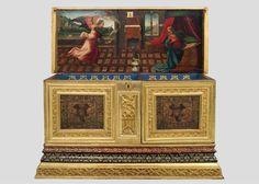 Caixa amb calaixos L'Anunciació. s XVI, Catalunya.