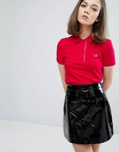 This is a bit of new idea - a Fred Perry tee tucked into an A-line.