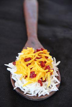 Zereshk polo- Barberry saffron rice