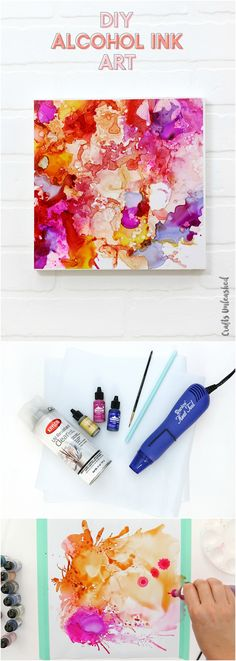 DIY Abstract Alcohol Ink Art