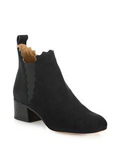 Chloé - Lauren Leather Ankle Boots