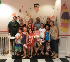 The whole group at our Carlo's Bakery Ridgewood Cake Boss Summer Finale Party!