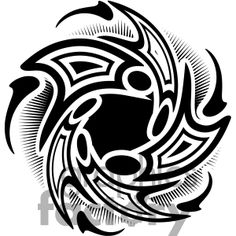 Clipart of Tribal Whirled designs. | 377725 | Royalty-Free Clipart by Graphics Factory