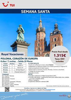 Semana Santa - Polonia, Corazón de Europa. 7 noches. Desde Madrid 29Marzo.Precio final desde 1.315€ ultimo minuto - http://zocotours.com/semana-santa-polonia-corazon-de-europa-7-noches-desde-madrid-29marzo-precio-final-desde-1-315e-ultimo-minuto-2/