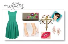 """look 654"" by lucianatsd ❤ liked on Polyvore featuring New Directions, Kate Spade and ruffledtops"