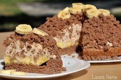 Tort musuroi cu banane si cacao