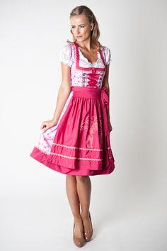 Dirndl Sandra, rosa pink geblümt