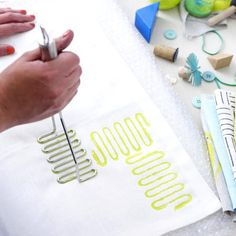 Stoff bedrucken - bunte Geschirrtücher, Taschen etc. - kartoffelstampfer
