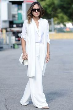 Bloggers and celebs sport the best all white outfits for you to cop this summer: Aimee Song.
