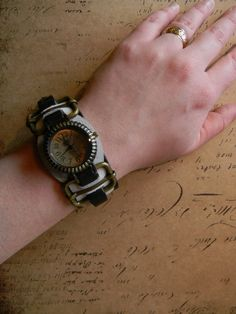 Cool Custom Steampunk Cuff Wrist Watch  by CuriosityShopper