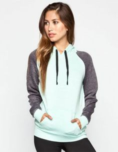 99f11a3e68ae Full Tilt Essential Womens Color Block Hoodie Mint In Sizes