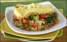 Hungry Girl's Super-Cheesy Crazy-EZ Shepherd's Pie (PointsPlus@ value 4) plus 2 more recipes on page!!