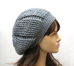 Slouchy Beanie Crochet Pattern for Beginners | ... Slouchy Hat, Crochet Pattern PDF,Easy, Great for Beginners, Pattern No