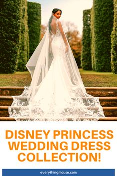 Look like a Disney Princess on your wedding day with these beautiful Disney Wedding Dresses. The new official Disney wedding dress colletion for 2021 is now available! Disney Cruise Wedding, Disney World Wedding, Disney Wedding Dresses, Princess Wedding Dresses, Disney Weddings, On Your Wedding Day, Wedding Tips, Dream Wedding, Disney Home