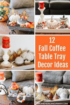 Its Fall and Im sharing 12 Fall Coffee Table Tray Decor Ideas that I hope will inspire you in your fall decorating. Its Fall and Im sharing 12 Fall Coffee Table Tray Decor Ideas that I hope will inspire you in your fall decorating. Small Coffee Table, Coffee Table Design, Coffee Table Tray Decor, Decorating Coffee Tables, Fall Decorating, Small Wooden Tray, Autumn Coffee, Fall Table, Table Decorations