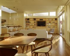 The dining room doesn't always have to be next to the kitchen!