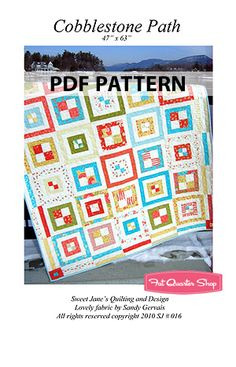Cobblestone Path Downloadable PDF Quilt Pattern Sweet Jane's Quilting and Design