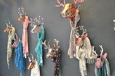 #Paper deer mount scarf display