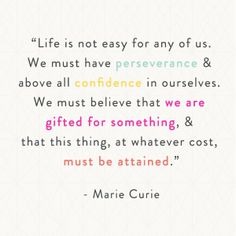 Shop BRIKA for a curated selection of well-crafted gifts by the most talented artisans and designers // Visit our three stores in Toronto, Canada Son Quotes, Famous Quotes, Life Quotes, Marie Curie, Cool Words, Wise Words, Inspirational Quotes For Women, Thinking Day, Word Up