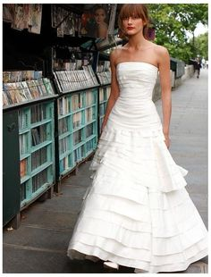 Taffeta Strapless A Line 2 In 1 Wedding Dress With Detachable Tiered Skirt