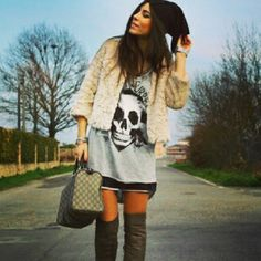 #Trevita Street Style .: caveirismo nos maxis tricots!!!