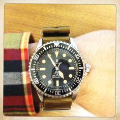 Ocean Vintage Military on a brown Maratac nato