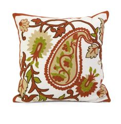 """Sabra Square Pillow - Complete your look with the Sabra pillow and add a bright touch of style to your room. Material: 80% Polyester, 20% Cotton. 18""""h x 18""""w."""