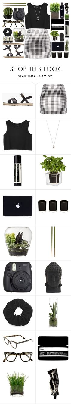 """Nina"" by brenna-kaye ❤ liked on Polyvore featuring A.P.C., Fashion Union, Monki, Vanessa Mooney, Aesop, Boskke, Linea, Threshold, Crate and Barrel and Fuji"