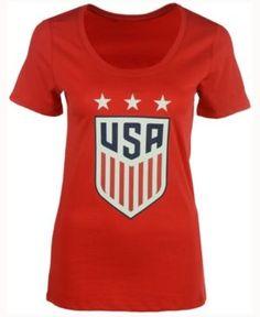 Nike Women's Usa National Team Crest T-Shirt - Red XL