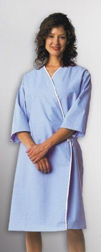 Front Opening Mammography Hospital Gowns (2Pk) b10400bab