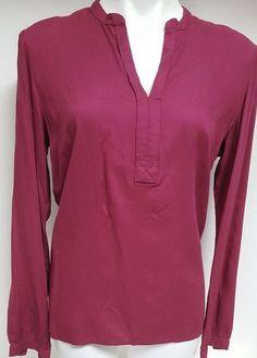 52b259bb0b2 Tommy Hilfiger Women s Magenta Magic Tunic Shirt Long Sleeve Extra Large  A25