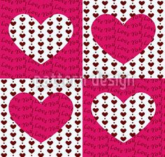 Trump Heart by Figen Topbas Fukara available as a vector file on patterndesigns.com Vector Pattern, Pattern Design, I Love Heart, Love Messages, Vector File, Surface Design, Special Day, Valentines Day, Hearts