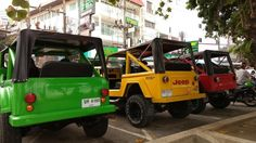 Colourful Jeeps in Phuket, Thailand. Taken with my new Moto G4 Plus.