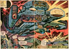 Kirby mech (Captain Victory two-page spread by Jack Kirby)