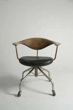 © Hans Wegner. Office chair, model nr.50, 1955. made by Johannes Hansen  ~ Great pin! For Oahu architectural design visit http://ownerbuiltdesign.co